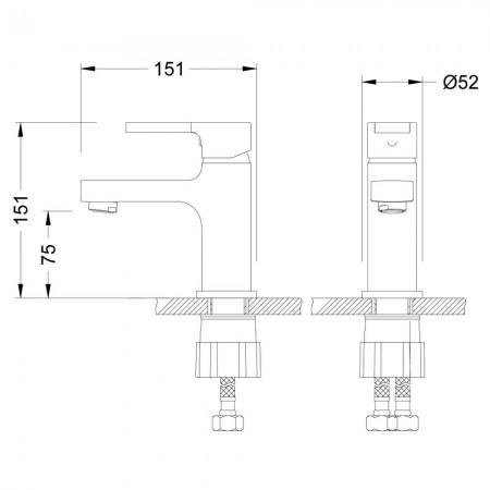 Смеситель LEMARK Aura LM0606C для раковины