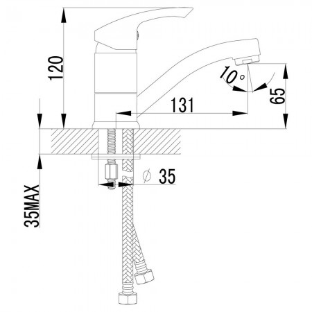 Смеситель LEMARK Plus Strike LM1107C для раковины
