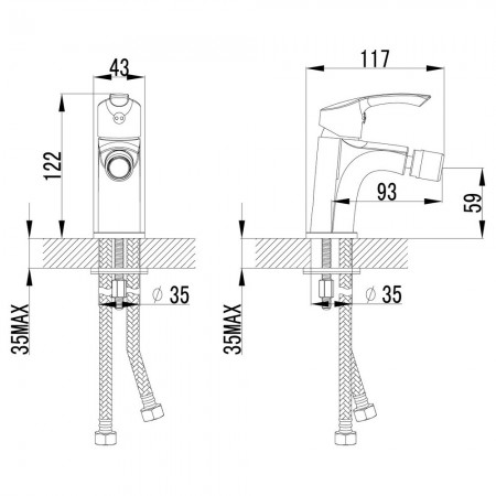 Смеситель LEMARK Plus Strike LM1108C для биде