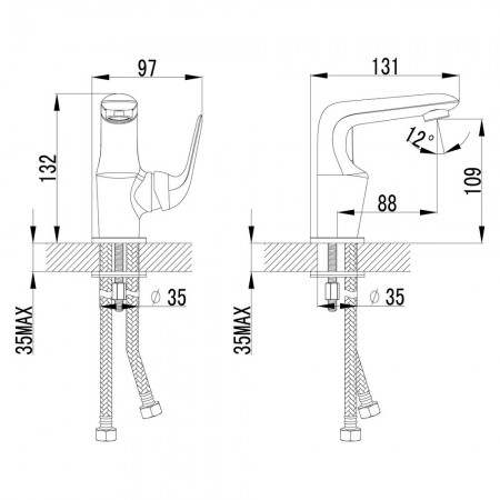 Смеситель LEMARK Plus Advance LM1206C для раковины