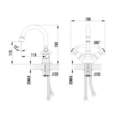 Смеситель LEMARK Plus Harmony LM1407C для раковины