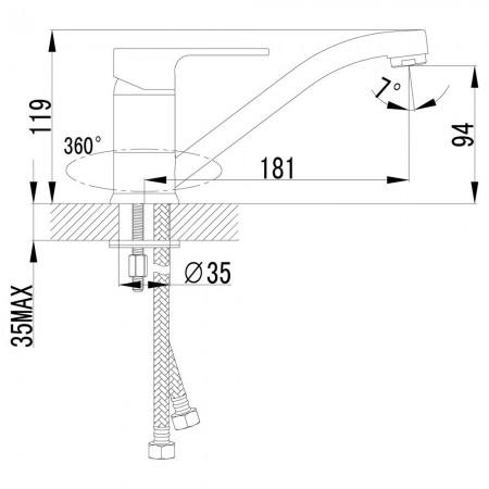 Смеситель LEMARK Plus Grace LM1504С для кухни