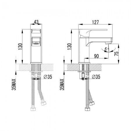 Смеситель LEMARK Plus Grace LM1506С для раковины