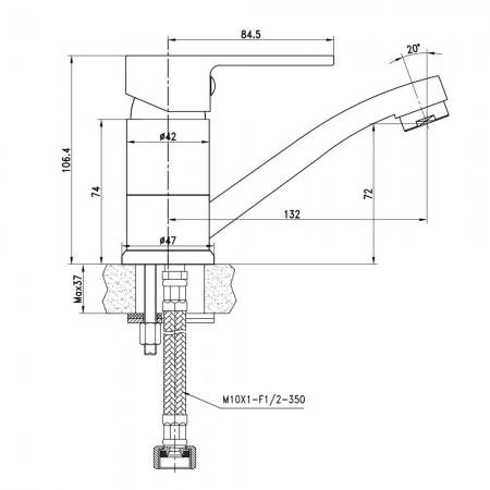 Смеситель LEMARK Plus Grace LM1507C для раковины