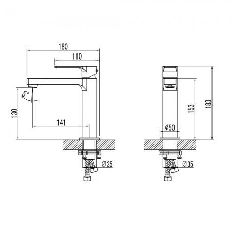 Смеситель LEMARK Plus Grace LM1537C для раковины