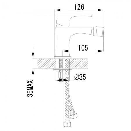 Смеситель LEMARK Plus Factor LM1608C для биде