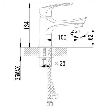 Смеситель LEMARK Plus Shape LM1706C для раковины