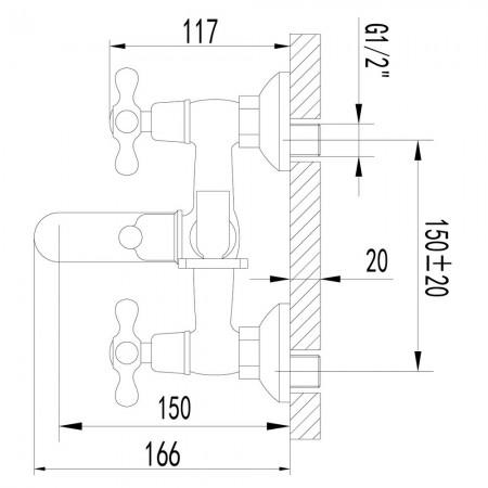 Смеситель LEMARK Standard LM2102C для ванны