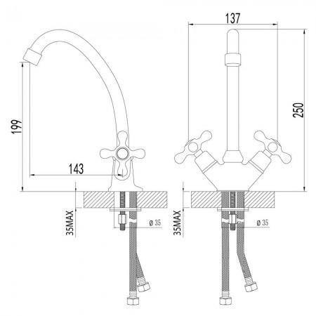 Смеситель LEMARK Standard LM2104C для кухни