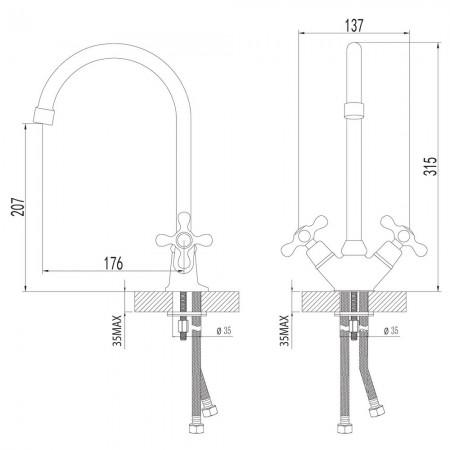Смеситель LEMARK Standard LM2105C для кухни