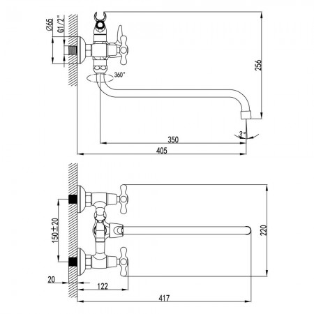 Смеситель LEMARK Standard LM2151C универсальный