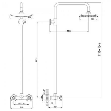 Смеситель LEMARK Standard LM2160C для душа