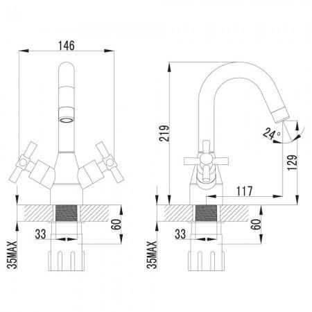 Смеситель LEMARK Neo LM2207C для раковины