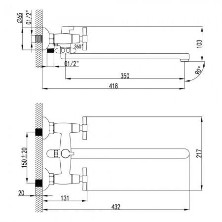 Смеситель LEMARK Neo LM2212C универсальный