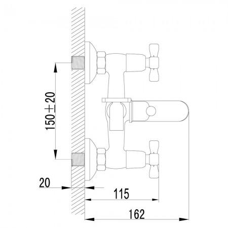 Смеситель LEMARK Benefit LM2502C для ванны