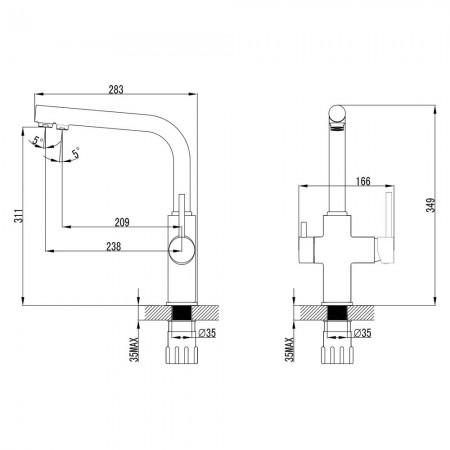 Смеситель LEMARK Comfort LM3060C для кухни с подключением к фильтру