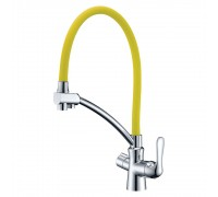 Смеситель Lemark Comfort LM3070C-Yellow для кухни с подключением к фильтру