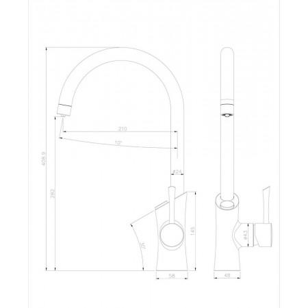 Смеситель LEMARK Comfort LM3072C для кухни с подключением к фильтру