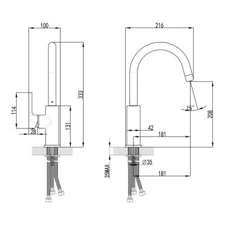Смеситель LEMARK Comfort LM3073C для кухни с подключением к фильтру