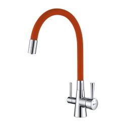 Смеситель LEMARK Comfort LM3075C-Orange для кухни с подключением к фильтру