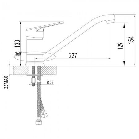 Смеситель LEMARK Omega LM3104C для кухни