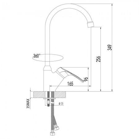 Смеситель LEMARK Omega LM3105C для кухни