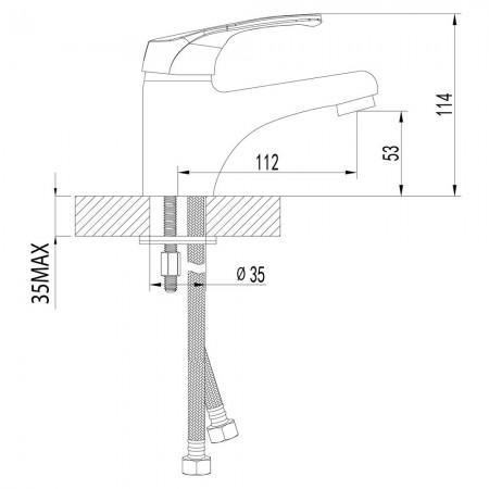 Смеситель LEMARK Omega LM3106C для раковины