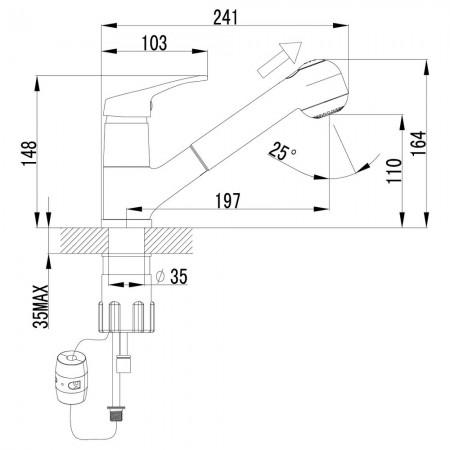 Смеситель LEMARK Omega LM3150C для кухни