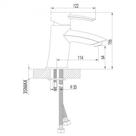 Смеситель LEMARK Atlantiss LM3206C для раковины