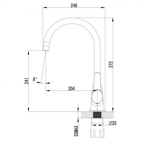 Смеситель LEMARK Atlantiss LM3255C для кухни