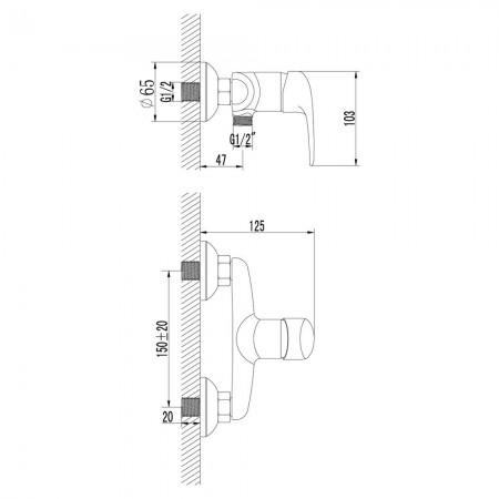 Смеситель LEMARK Pramen LM3303C для душа
