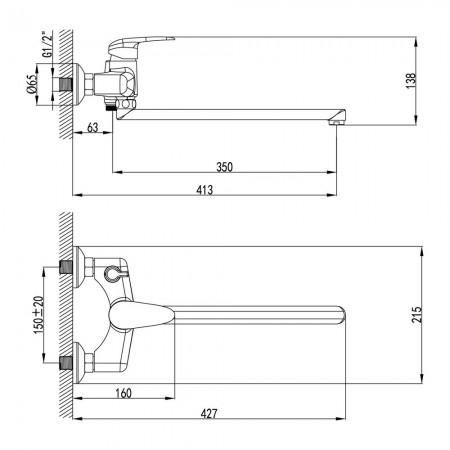 Смеситель LEMARK Pramen LM3317C для ванны