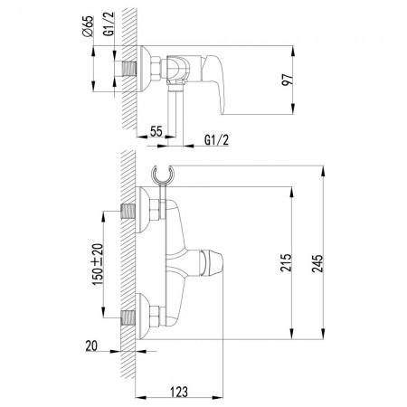 Смеситель LEMARK Pramen LM3318B с гигиеническим душем