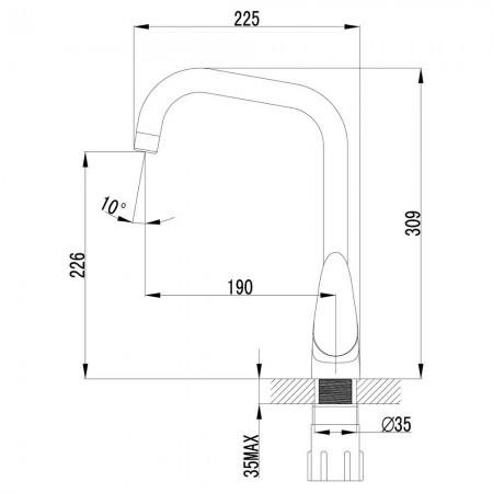 Смеситель LEMARK Pramen LM3355C для кухни