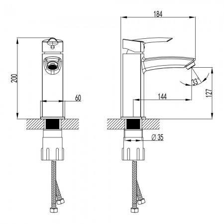 Смеситель LEMARK Mars LM3537C для раковины