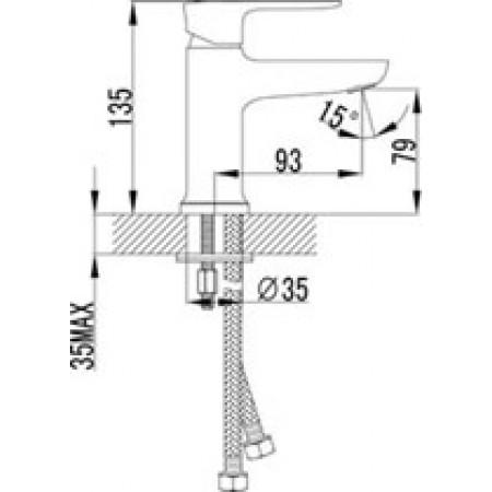Смеситель LEMARK Basis LM3606C для раковины