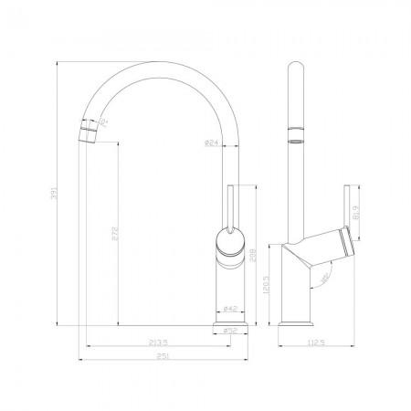Смеситель LEMARK Minima LM3805C для кухни