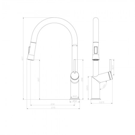 Смеситель LEMARK Minima LM3850C для кухни