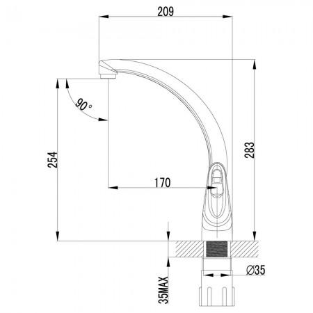 Смеситель LEMARK Luna LM4155C для кухни