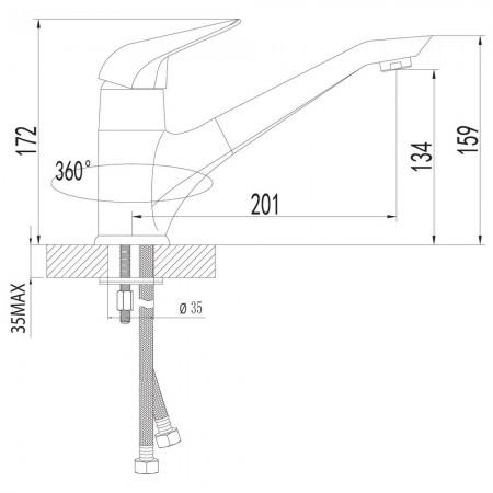 Смеситель LEMARK Poseidon LM4204C для кухни