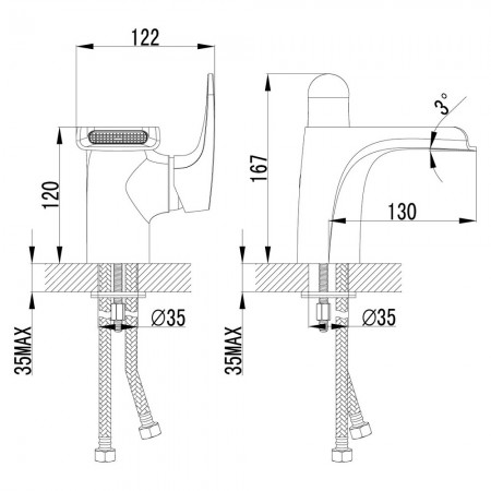 Смеситель LEMARK Shift LM4346C для раковины