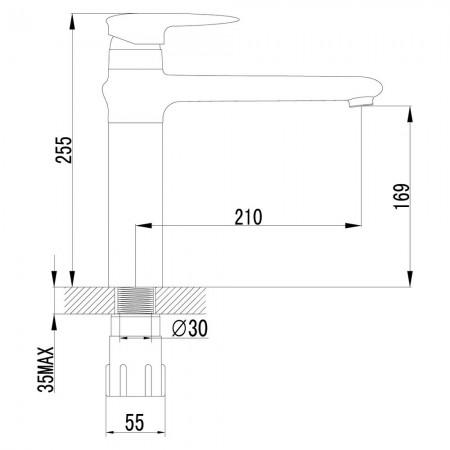 Смеситель LEMARK Status LM4404C для кухни