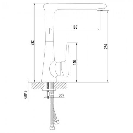 Смеситель LEMARK Status LM4405C для кухни