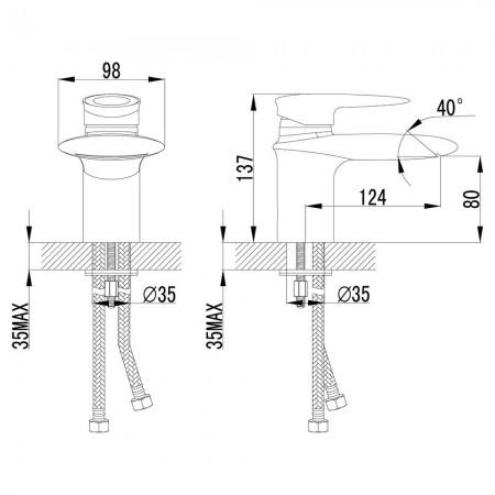 Смеситель LEMARK Status LM4446C для раковины с каскадным изливом