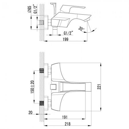 Смеситель LEMARK Unit LM4502C для ванны