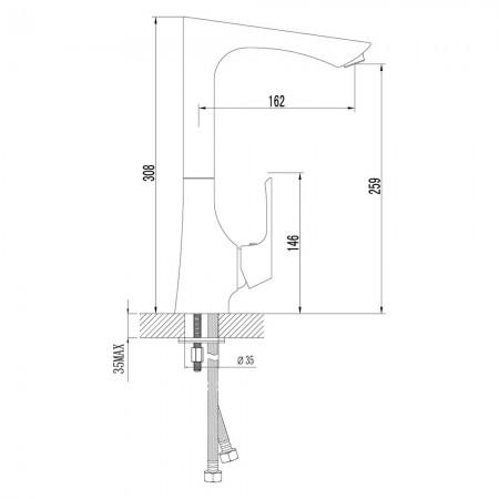 Смеситель LEMARK Unit LM4505C для кухни