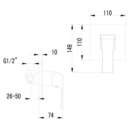 Смеситель LEMARK Unit LM4523C для душа