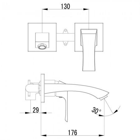 Смеситель LEMARK Unit LM4526C для раковины