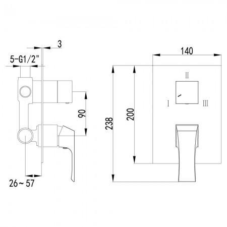 Смеситель LEMARK Unit LM4528C для ванны и душа