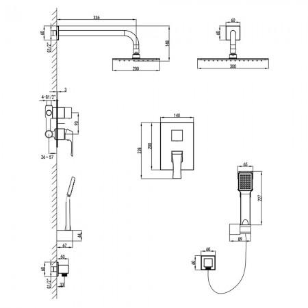 Смеситель LEMARK Unit LM4529C для душа встраиваемый